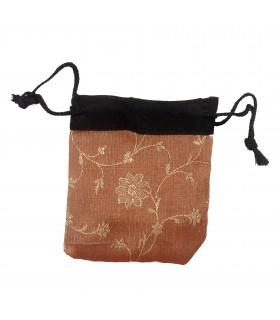 Sacs de cadeau mini - recyclés Sari - modèles et couleurs assorties - 9 cm