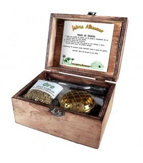 Pack Tesoros De Oriente - Incienso Mirra Y Oro - Incluye Incensario Pinzas Y Carbón -