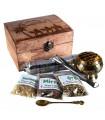 Confezione tesori d'Oriente - oro incenso e mirra - include pinzette incensiere e carbone - prodotto consigliato