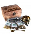 Treasures of the East Pack - Gold Incense and Myrrh - Censer and Charcoal Censer - Ideal Gift