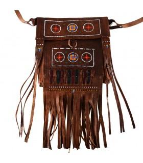 Туареги бахромой мешок - украшенные цветами - Роман модель - 2 размера