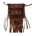 Tuareg fringe saco - decoração étnica - novo - 2 tamanhos