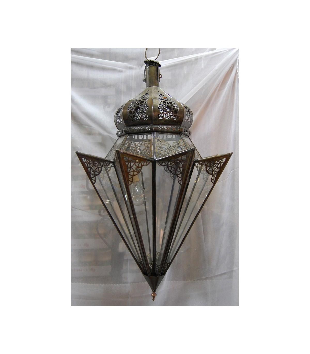 L mpara de cristal paraguas andalus arabe 2 colores - Lamparas de cristal de colores ...