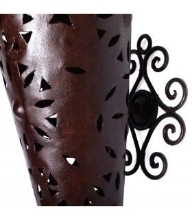 Parede de ferro alongada openwork - projeto Medieval - 89 cm