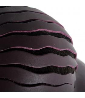 Cappuccio in pelle artigianale - pieghevole - 2 colori - esclusiva limitati