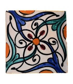 Al-Andalus - carreaux faits à la main 10 cm - plusieurs motifs - - modèle 27