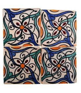 Al-Andalus - 10 cm - verschiedene Designs - handgefertigte Tile - Modell 27