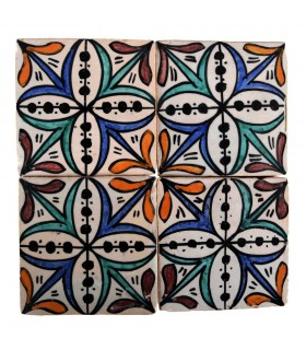 Al-Andalus - 10 cm - several designs - handcrafted tile - model 28