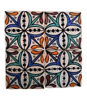 Azulejo Andalusí - 10 cm - Varios Diseños- Artesanal- Modelo 28