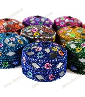 Cajita Redonda Brillante - Pastillero- Colores-Ideal Perfumes
