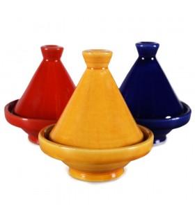 Droghiere Mini Tajin decorato - vari colori - 10 cm di altezza