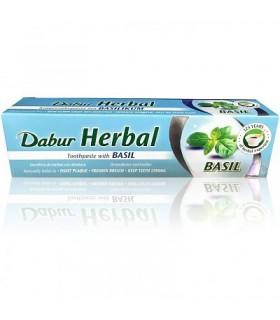 Extraia o dentifrício Ayurvédica medicinais com manjericão - 100 ml - DABUR
