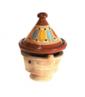 Africano argila Censer - 24 cm - Brasero - Artisan