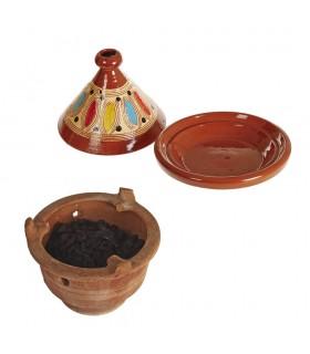Afrique Clay Encensoir - 24 cm - Brasero - Artisan