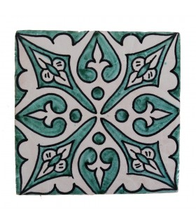 Al-Andalus - 10 cm - several designs - handcrafted tile - model 19