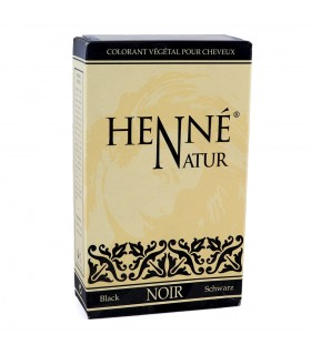 Henna Natural - Colorante Vegetal Para El Cabello - Color Negro - 90 g