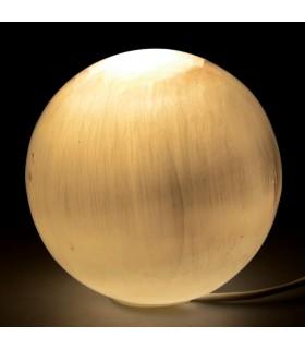 Lámpara Selenita Pulida - Esfera - 12 cm Diámetro