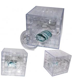 Caja Cubo Hucha Laberinto 3D - Compartimento Secreto -Metacrilato