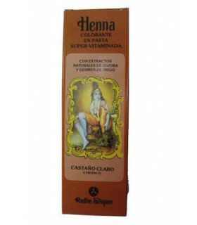 Colorant pâte de henné Super-Vitaminada - RADHE SHYAM - brun clair - 200 ml-