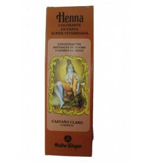 Henna Colorante En Pasta Super-Vitaminada - RADHE SHYAM - Castaño Claro - 200 ml-
