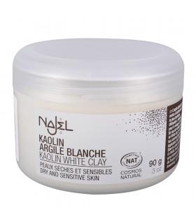 Argila branca pele seca e sensível de pó - cosméticos naturais – - 90g