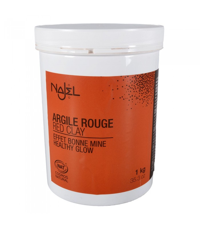 Red powder - Natural cosmetics - clay healthy shine - 1kg