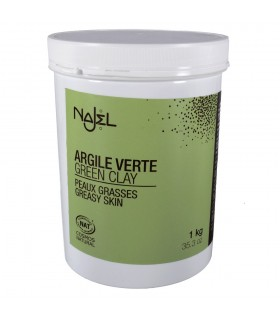 Natural - oily - green powder - cosmetic clay 1 kg