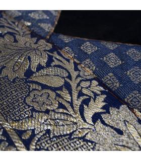 Cojín Tela Fina y Terciopelo - 40 cm - Varios Colores - Diseño Arabe