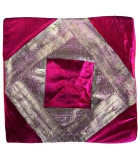 Fine toile et velours - coussin design 40 cm - plusieurs couleurs - arabe
