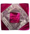 Funda Cojín Tela Fina y Terciopelo - 40 cm - Varios Colores - Diseño Arabe