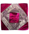 Thin Fabric and Velvet Cushion Cover - 40 cm - Various Colors - Arabic Design
