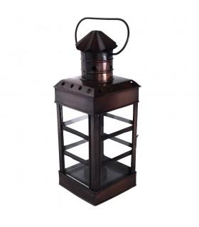 Lanterna per candela - rettangolare con manico - nuovo - 30 cm