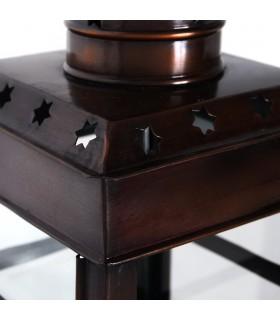 Lanterna de vela - retangular com alça - novo - 30 cm