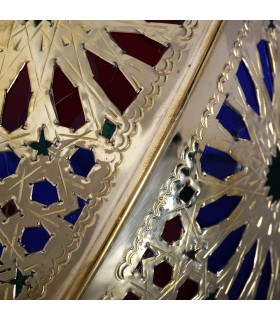 Gilded bronze wall - design Alcazaba - tri-colored crystals - 3 sizes