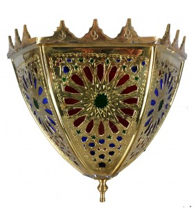Dourada com cristais de parede bronze - projeto Alcazaba - tricolor - 3 tamanhos