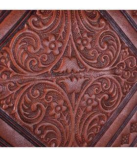 Saco de couro feitos à mão - mão ou pendurar - 2 compartimentos - snap - várias cores - 31 cm