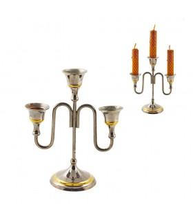 Свеча держатель никелем - 3 оружия - качество - 17 см
