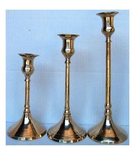 Portacandele bronzo - 3 dimensioni di forma allungata