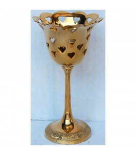 Candle rose - draught with hearts - bronze