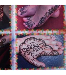 Каталог тату хной - введение в искусство тату - модель 2