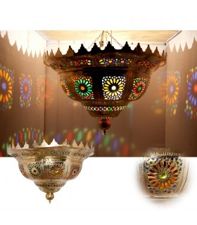 Emerald Giant Brass Ceiling - Mosaic Arab Resins Colors