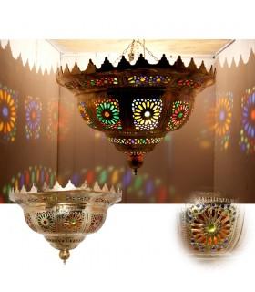 Plafón Esmeralda Gigante Latón - Mosaico Arabe Resinas Colores