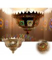Emerald ceiling lamp Brass - Arab Mosaic Resins Colors