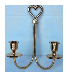 Candle holder double - heart