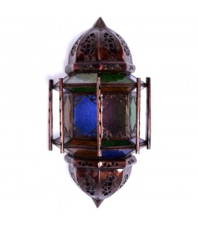 Aplique Calado de Cristal - Barras -  Multicolor - 37 cm