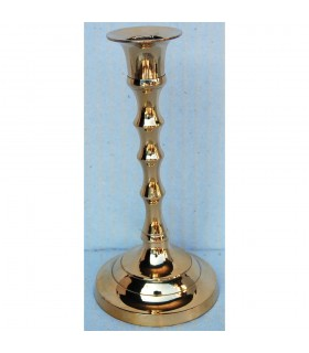 Small bronze candle holder - wavy