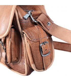 Handmade Leather Bag - 6 pockets - 2 Colors - Handmade