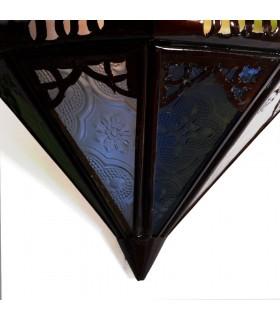 """Aplique Calado de Cristal - """"Corazón"""" -  Multicolor - 30 cm"""