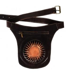 Fanny Pack Leder 'Sun' - hohe Qualität - 2 Eingrifftaschen - 2 Farben erhältlich