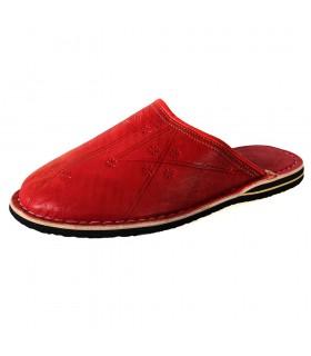 Punta rotonda pantofole di pelle - vari colori - novità